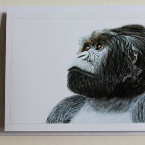 Magumu Silverback Mountain Gorilla – Greetings Card