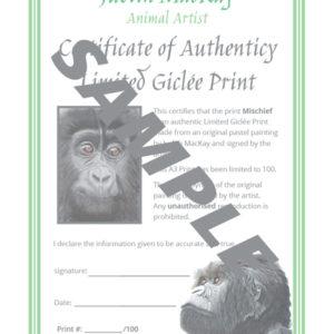 Mischief Baby Gorilla – Giclée Print
